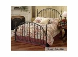 Queen Size Bed - Kirkwell Metal Bed in Brushed Bronze