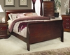 Queen Size Bed - Louis Philippe Queen Size Bed in Cherry - Coaster - 200431Q