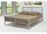 Queen Size Bed - Metal Queen Size Platform Bed in Metal Silver - Coaster - 300201Q