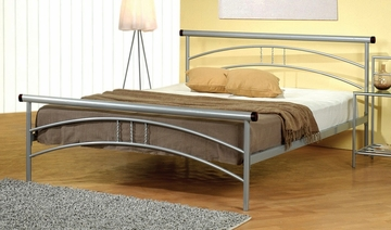 Queen Size Bed - Metal Queen Size Platform Bed in Metal Silver - Coaster - 300221QN