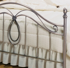 Queen Size Bed - Milano Metal Bed in Antique Pewter