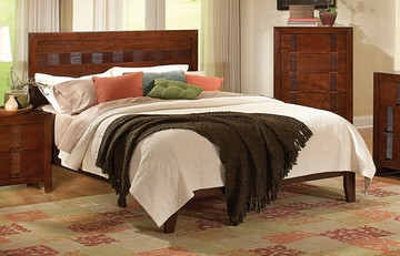 Queen Size Bed - Resin Queen Size Bed in Country Cherry - Coaster - 200751Q