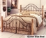 Queen Size Bed - San Marco Metal Bed in Brown Copper