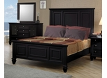 Queen Size Bed - Sandy Beach Queen Size Bed in Black - Coaster - 201321Q