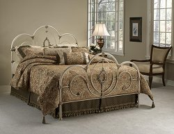 Queen Size Bed - Victoria Queen Size Bed in Antique White - Hillsdale