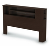Queen Size Bookcase Headboard in Chocolate - Vito - South Shore Furniture - 3119092