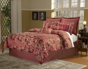 Queen Size Comforter Set - 11 Piece Set in Crawford Pattern - 82EQ712CRW