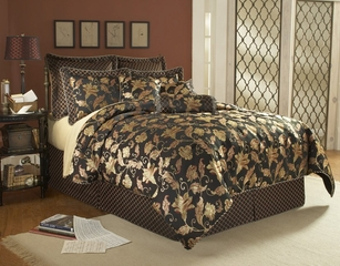 Queen Size Comforter Set - 11 Piece Set in Gentry Pattern - 82EQ712GEN