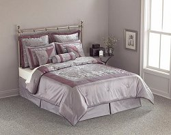 Queen Size Comforter Set - 11 Piece Set in Pagoda Pattern - 82EQ712PAG