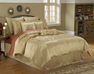 Queen Size Comforter Set - 11 Piece Set in Rothchild Pattern - 82EQ712RCH