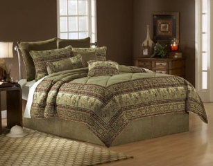 Queen Size Comforter Set - 11 Piece Set in Serengeti Pattern - 82EQ712SGT