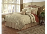 Queen Size Comforter Set - 11 Piece Set in Sylvia Pattern - 82EQ712SYL