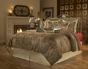 Queen Size Comforter Set - 11-Piece Super Pack in Manchester Pattern - 80EQ712MCS