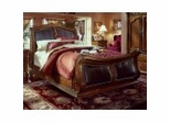 Queen Size Leather Sleigh Bed - Wynwood Furniture - 1635-966