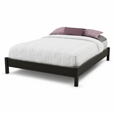 Queen Size Low Profile Bed in Ebony - Gravity - South Shore Furniture - 3577203
