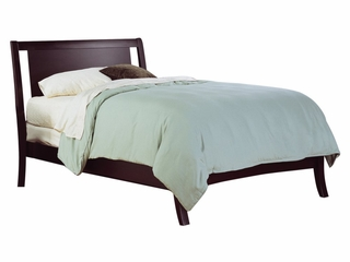 Queen Size Low Profile Bed - Nevis Espresso - Modus Furniture - NV23L5