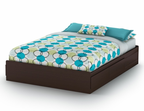 Queen Size Mates Bed in Chocolate - Vito - South Shore Furniture - 3119210