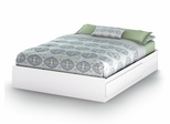 Queen Size Mates Bed in Pure White - Vito - South Shore Furniture - 3150210