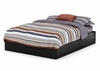 Queen Size Mates Bed in Solid Black - South Shore Furniture - 3170210