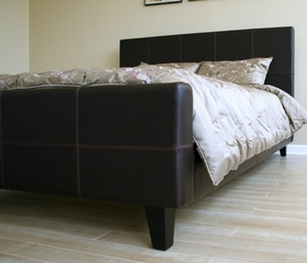 Queen Size Platform Bed in Brown - B-11-J509-QBED