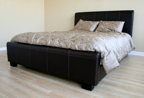 Queen Size Platform Bed in Brown - B-16-J509-QBED