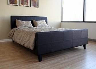 Queen Size Platform Bed in Brown - B-22-J509-QBED