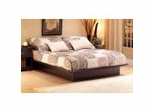 Queen Size Platform Bed in Chocolate - South Shore Furniture - 3159233