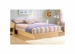 Queen Size Platform Bed in Natural Maple - South Shore Furniture - 3013233