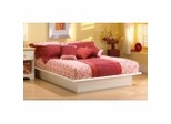 Queen Size Platform Bed in Pure White - South Shore Furniture - 3050233