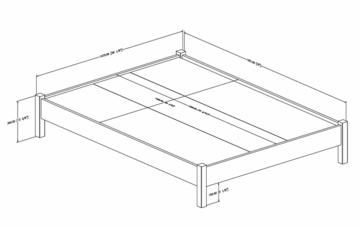 Queen Size Platform Bed - Step One - South Shore Furniture - 3050203