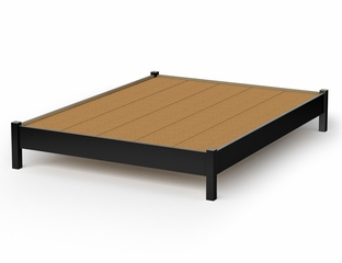 Queen Size Platform Bed - Step One - South Shore Furniture - 3070203