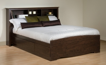 Queen Size Platform Bed with Headboard - Prepac Furniture - EBQ-6200-SET