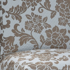 "Quilted Powder Blue with Raised Brown Chenille Flowers ""Slip Over"" (Fits 741-440 Chair) - Powell Furniture - 741-224Z"