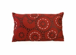 Radeem Hand Stitched Ribbon Pillow - IMAX - 42121