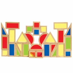 Rainbow Blocks Set - 30 Pcs - Guidecraft - G3016