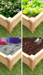 Raised Flower Bed in Natural - Merry Products - MPG-RBP01