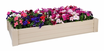 Raised Garden Bed / Sandbox in Natural Cedar - 2' x 4' - NewAgeGarden - EGB002-2x4