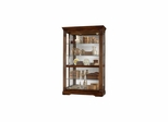 Ramsdell Display Cabinet - Distressed Cherry - Howard Miller