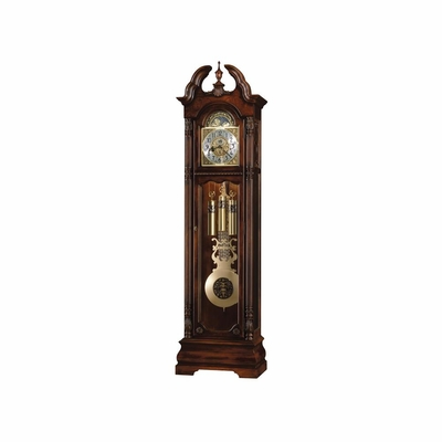 Ramsey Grandfather Clock in Tuscany Cherry - Howard Miller