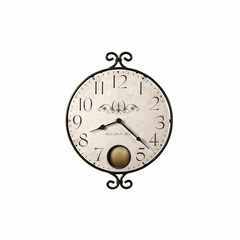 Randall Round Wrought Iron Wall Clock - Howard Miller