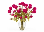 Ranunculus Liquid Illusion Silk Flower Arrangement in Beauty - Nearly Natural - 1087-BU