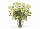 Ranunculus Liquid Illusion Silk Flower Arrangement in Cream - Nearly Natural - 1087-CR