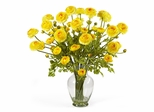 Ranunculus Liquid Illusion Silk Flower Arrangement in Yellow - Nearly Natural - 1087-YL