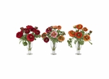 Ranunculus with Champagne Vase (Set of 3) - Nearly Natural - 4695