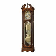 Raymond Grandfather Clock in Saratoga Cherry - Howard Miller