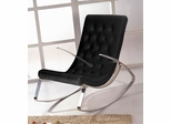 Raymondo Rocking Chair in Black - K102-BLACK