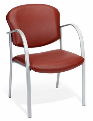 Reception Chair - Contract Vinyl Upholstered Arm Chair - OFM - 414-VAM