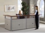 "Reception Desk - 120"" x 48"" U-Shaped Reception Station with Tops - OFM - PG297-2"