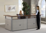 "Reception Desk - 96"" x 37"" U-Shaped Reception Station with Tops - OFM - PG296-2"