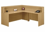 Reception Desk Set - Series C Light Oak Collection - Bush Office Furniture - WC60376-36-24